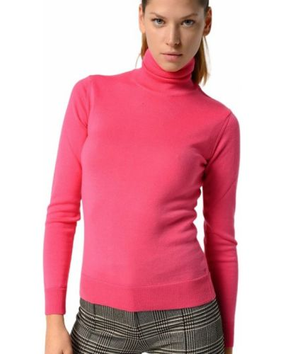 Różowy długi sweter z długimi rękawami Pinko