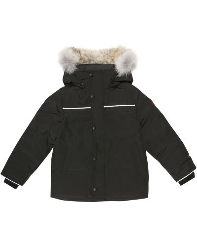 Parka zimowa - czarna Canada Goose Kids