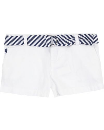 Białe szorty chinosy materiałowe Polo Ralph Lauren