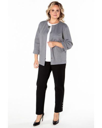 Трикотажный пиджак - серый Virgi Style