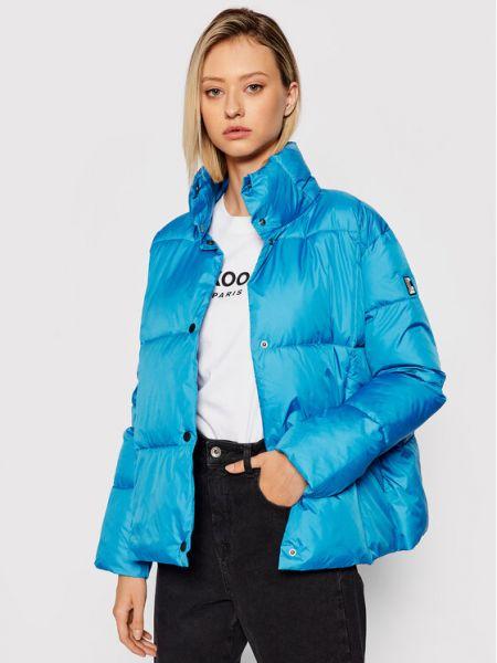 Niebieska kurtka puchowa Liviana Conti