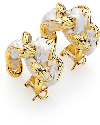 Серебряные серьги позолоченные золотые Graziella