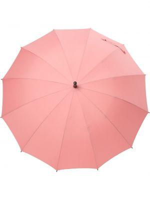 С ремешком прямой розовый зонт с вышивкой Discord Yohji Yamamoto