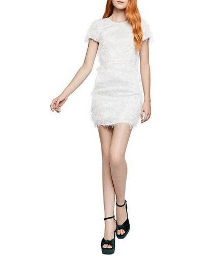 Белое платье мини с бахромой на крючках Bcbgeneration