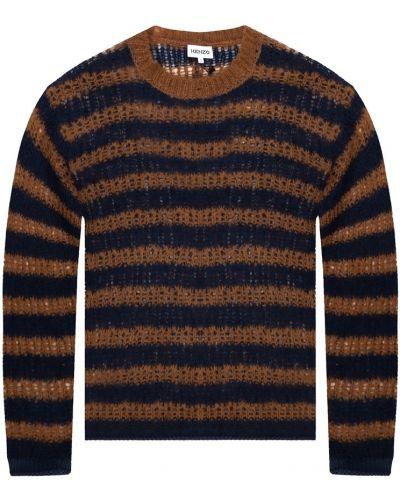Długi sweter oversize wełniany w paski Kenzo
