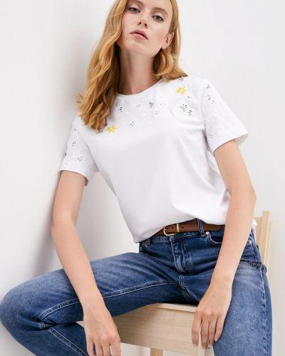 Спортивная белая спортивная футболка с короткими рукавами Escada Sport