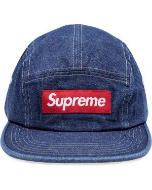 Czapka z logo beżowy Supreme