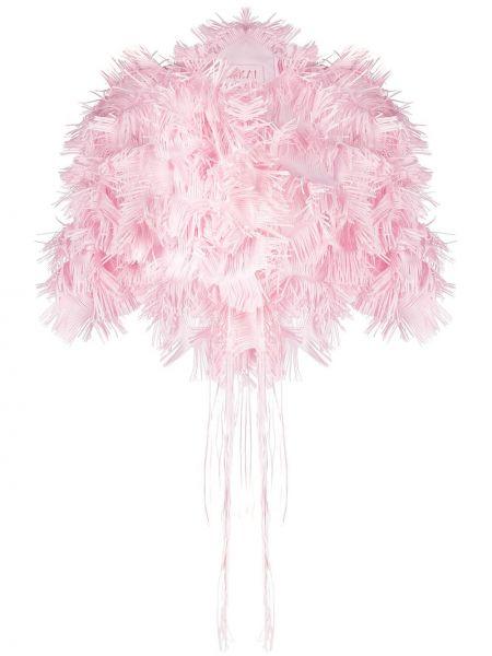 С рукавами розовый пиджак с воротником Paskal