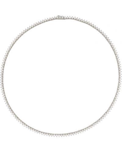Naszyjnik łańcuch srebrny - biały Numbering