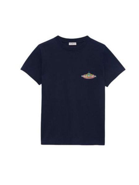 Niebieska t-shirt Balenciaga