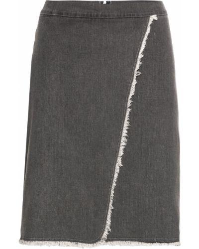 Джинсовая юбка серая Bonprix