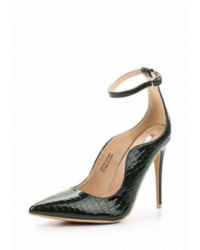 Кожаные туфли с застежкой на лодыжке на каблуке Lost Ink.