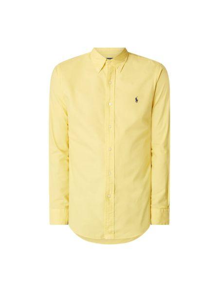 Bawełna żółty puchaty koszula z mankietami Polo Ralph Lauren