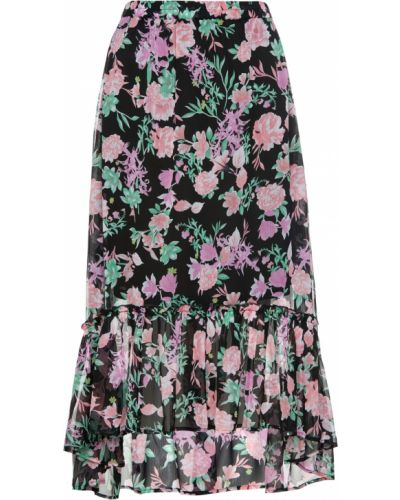 Черная шифоновая юбка Bonprix