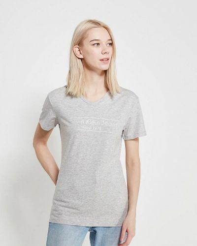 Серая футболка Calvin Klein Jeans