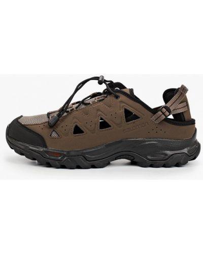 Текстильные коричневые сандалии Salomon
