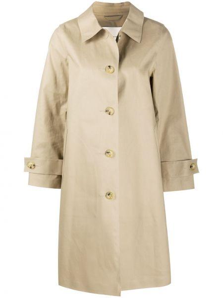 Однобортное пальто классическое с воротником на пуговицах Mackintosh