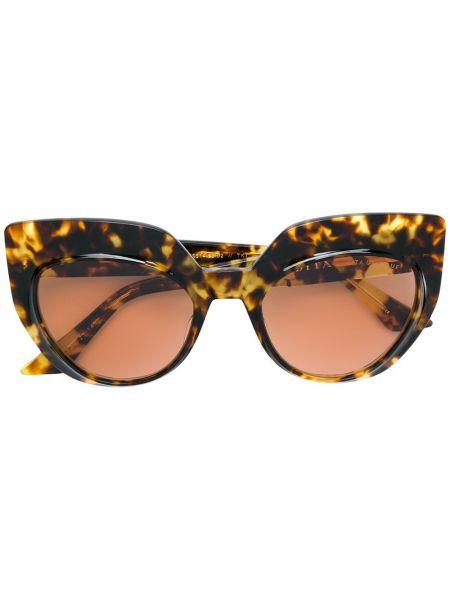 Муслиновые солнцезащитные очки хаки Dita Eyewear