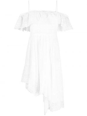 С ремешком белое платье квадратное Isabel Marant Étoile