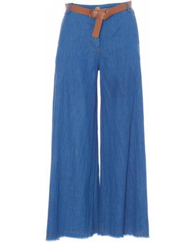 Niebieskie spodnie Tensione In