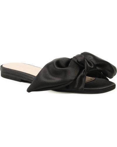 Czarne sandały skorzane Eva Longoria
