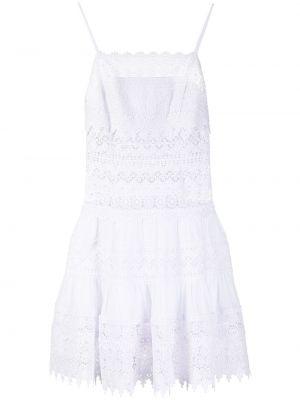 Biała sukienka mini rozkloszowana bawełniana Charo Ruiz Ibiza