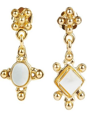Złote kolczyki Brinker & Eliza