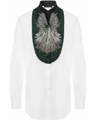 Белая блузка хлопковая Emporio Armani