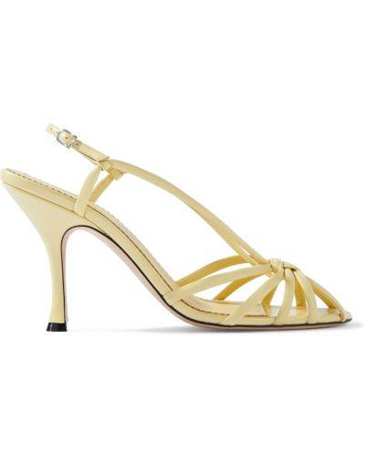 Sandały skórzane Victoria Beckham
