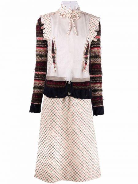 Шелковое платье миди Maison Margiela