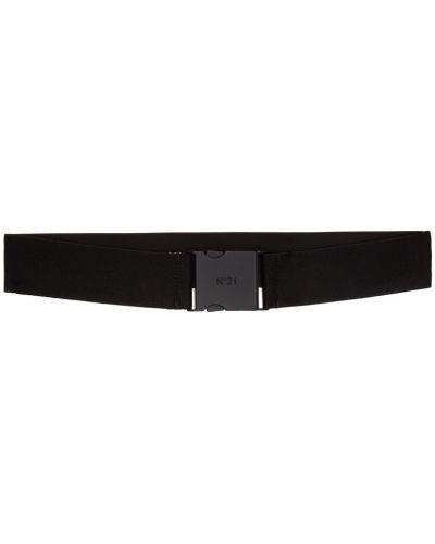 Текстильный черный ремень с пряжкой No.21