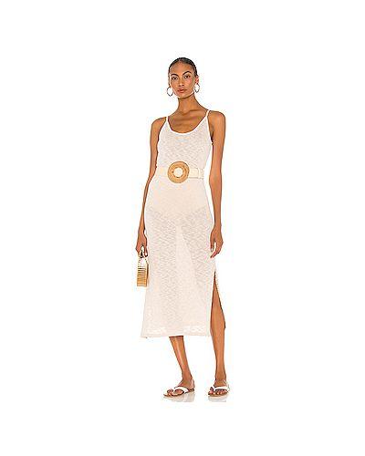 Шелковое платье миди с разрезом Majorelle