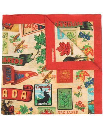 Szalik bawełniany z printem Dsquared2