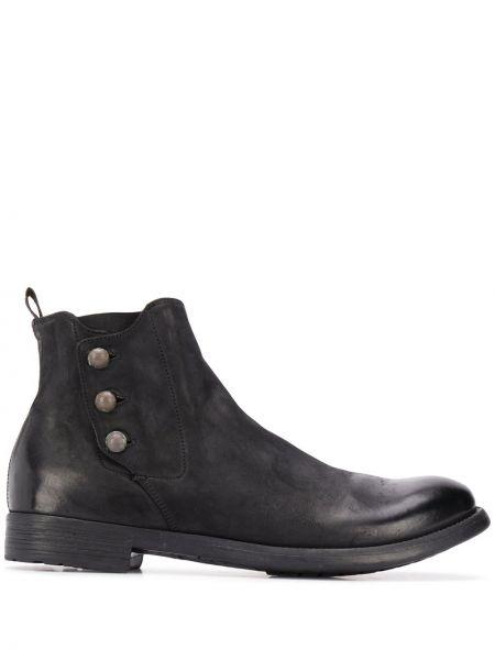 Czarny buty skórzane z prawdziwej skóry Officine Creative
