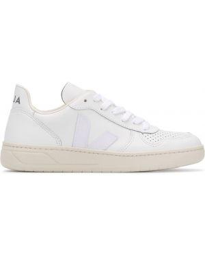Кожаные кроссовки белый с логотипом Veja
