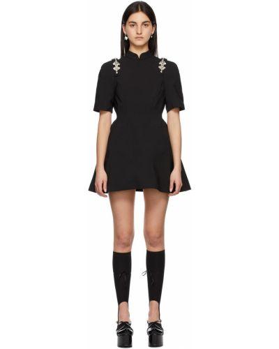 Czarna sukienka kopertowa Shushu/tong