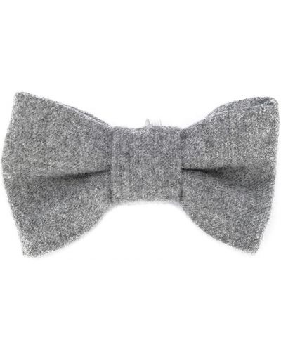 Серый трикотажный вязаный галстук-бабочка Il Gufo