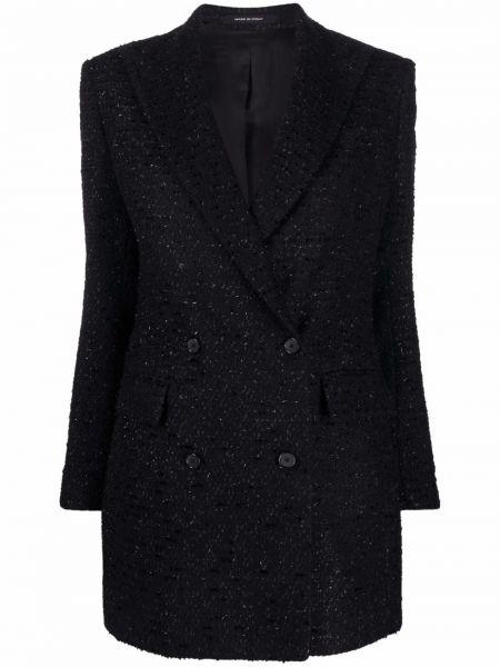Черное пальто из полиэстера Tagliatore