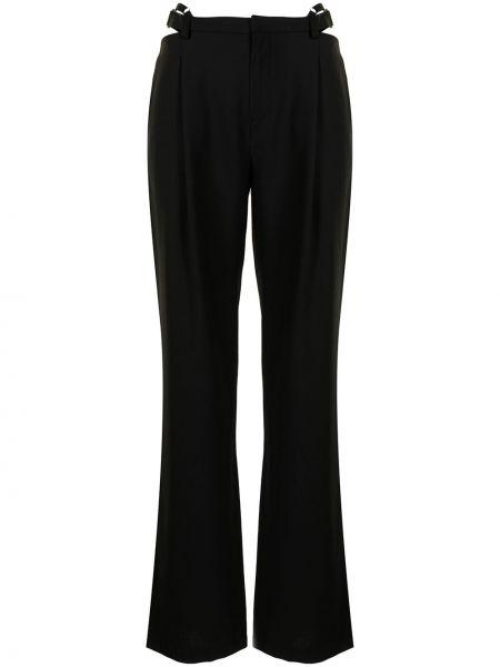 Черные прямые брюки Dion Lee
