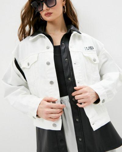 Белая джинсовая куртка Mm6 Maison Margiela