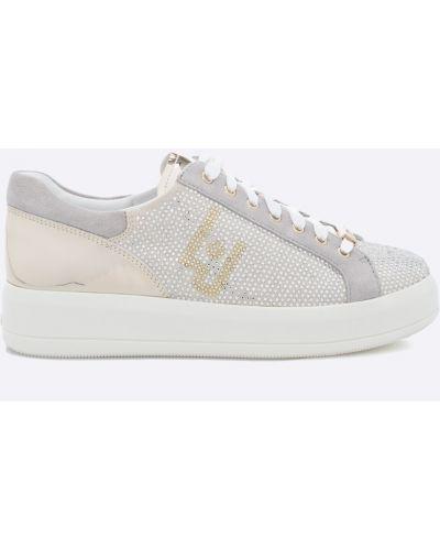 Бежевые кроссовки Liu Jo