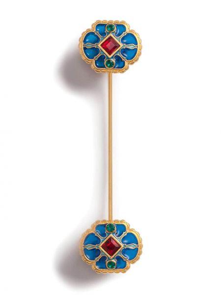 Niebieska złota broszka Dolce And Gabbana