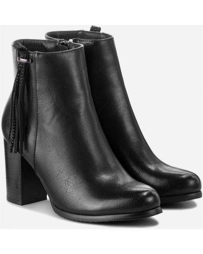 Ботильоны на каблуке - черные Jenny Fairy
