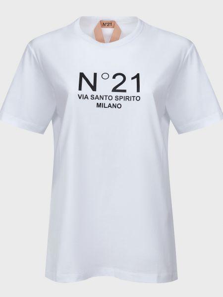 Хлопковая белая футболка N°21