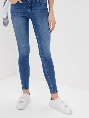Зауженные джинсы - синие Noisy May