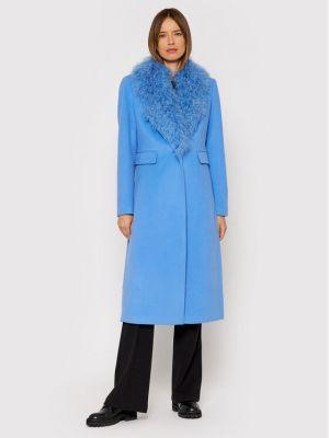 Płaszcz wełniany - niebieski Liu Jo