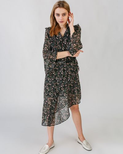 Шифоновое платье - черное Only