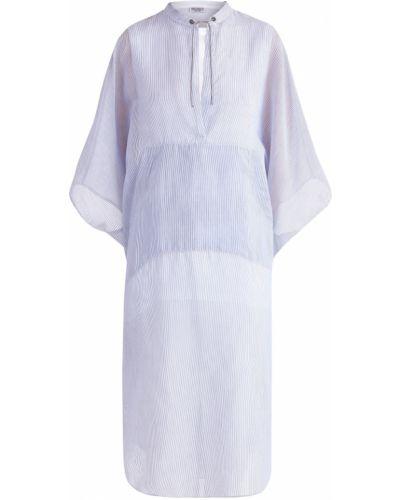 Блузка в полоску с бусинками Brunello Cucinelli