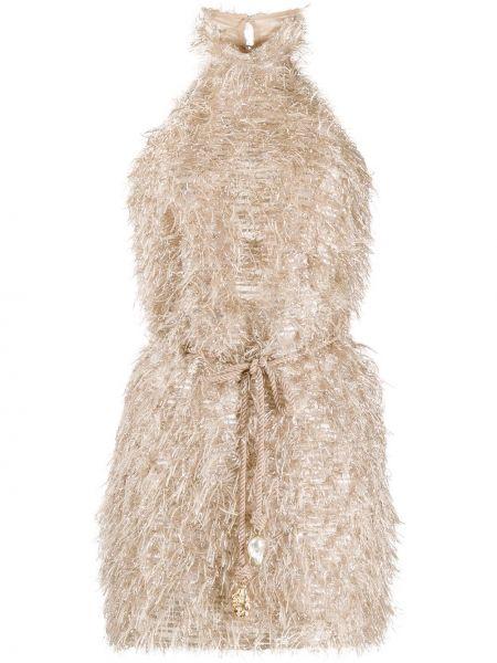 Платье мини повседневное с поясом Nanushka