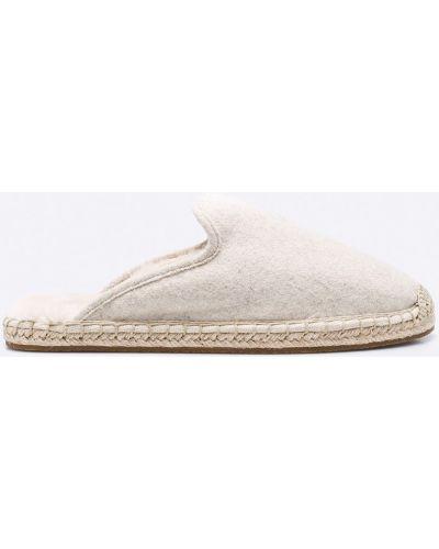 Бежевые сандалии текстильные Marc O'polo